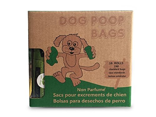 KINREX Dog Poop Waste Bags - Unscented Earth Friendly Plastic Bags for Pets - Leak Proof and Easy to Tear Off - 240 Count - 16 Refill Rolls