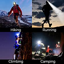 waterproof headlampled camping lightsheadlamp with red lightheadlamps for adultshiking headlamp