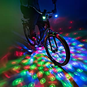Brightz CruzinBrightz Blinking Tri-colored LED Bicycle Accessory Light Red//Gr...