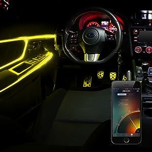 xkglow,speed,sync,bluetooth,led,interior,light