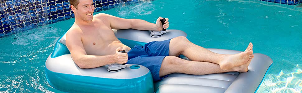 Super Poolcandy Splash Runner Motorized Inflatable Swimming Pool Lounger Fun Cool Powered Float For Any Pool Or Lake 1 Year Free Parts Replacement Andrewgaddart Wooden Chair Designs For Living Room Andrewgaddartcom