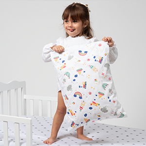 Toddler Pillowcase - 100% GOTS Certified Organic Cotton - Hypoallergenic Safe and Comfortable  Toys