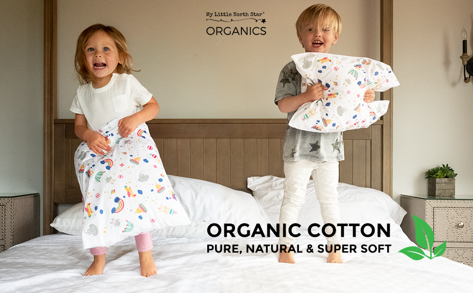 Toddler Pillowcase Organic  Hypoallergenic  Comfortable - No Harsh Chemicals on Your Toddler's Skin