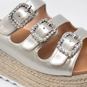 3a1b5b77601 These wedge sandals are the perfect choice for those who want the height  high heels provide without the discomfort and pain. With a chunky platform  and heel ...