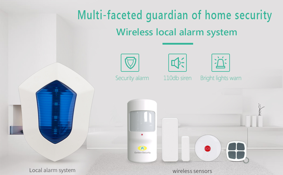 Amazon.com: Home Security System,Golden Security Blue ...