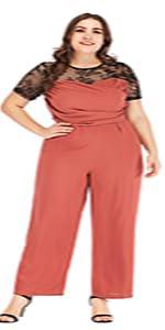 454484690c6 GMHO Women s Plus Size Floral Lace Off-The-Shoulder Cocktail Formal ...