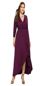 1eceab7b5ab GMHO Women s Plus Size Long Sleeve V-Neck Irregular Hem Long Maxi Formal  Dress · GMHO Women s Sexy Cocktail Dress V Neck Sleeveless Sequin Party  Club Dress ...