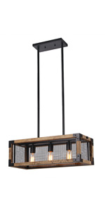 rectangular cage chandelier flush mount anmytek rectangle wood metal chandelier net cage iron island lamp square and basked pendant three lights