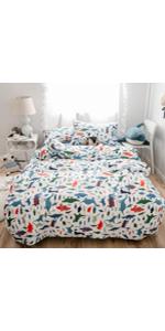 Cute Dinosaur Pattern Bedding Duvet Cover Set
