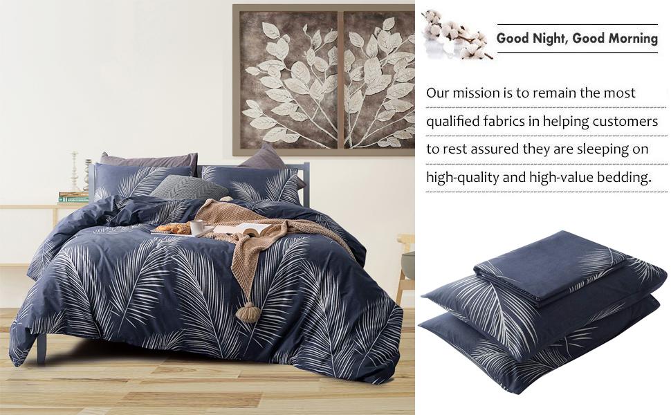 palm pattern duvet cover set