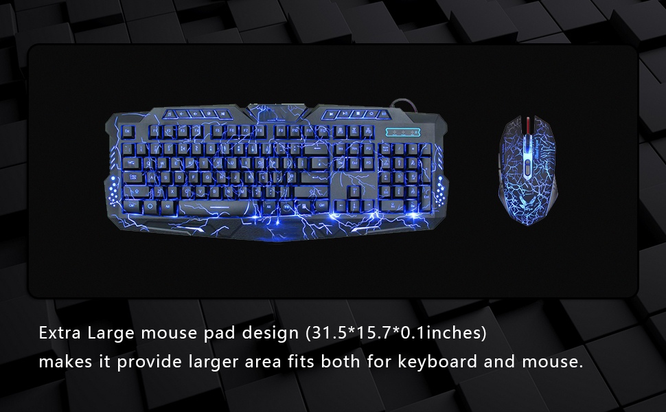 Cmhoo XXL Desk Pad Protecter Blotters 31.5x15.7IN /& Extended Gaming Mouse 80x40
