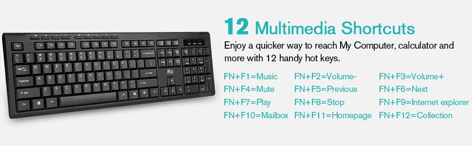 12 Multimedia Keys