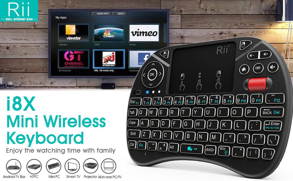Amazoncom 2018 Rii I8x 24ghz Mini Wireless Keyboard With Touchpad