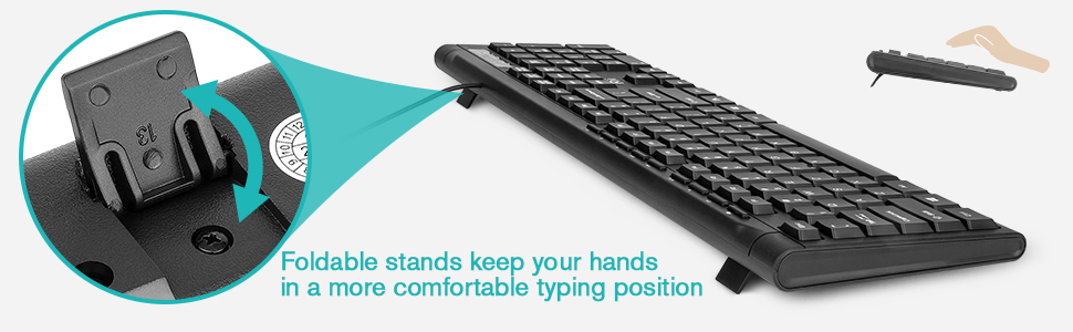 Typing Comfortably with foldable stands