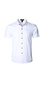 Men's Slim Fit Solid Dress Shirts