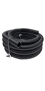 Pond Tubing Black Corrugated PVC Strong Flexible Tubing Made in USA 20 FT 1-1//2-Inch Sealproof Rollerflex Kinkproof 1-1//2 Dia Waterfall