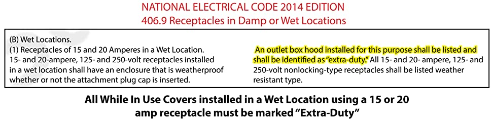 Sealproof 1-Gang Deep Weatherproof In Use Outdoor Outlet Cover | Lockable, UL Extra Duty Compliant, 18 Configurations