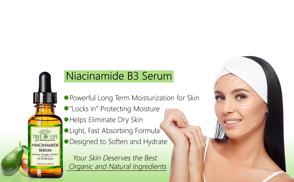best organic anti aging wrinkle cream niacinamide b3 serum for face and skin moisturizing serum