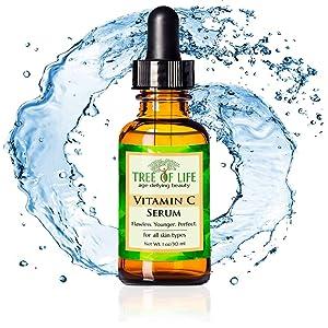organic natural vitamin c serum anti aging wrinkle mositurizer cream for face and skin daytime serum