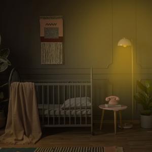 amber blue blocking nursery light for baby warm