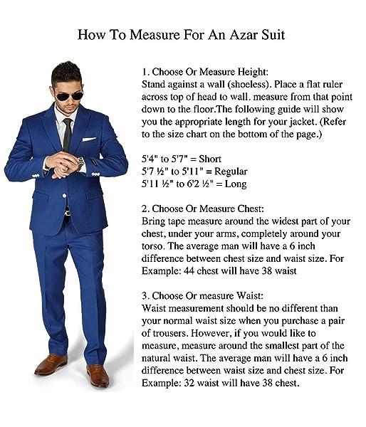Slim Fit 2 Button Peak Lapel Beehive Dapper Design Modern Suit by AZAR 1706