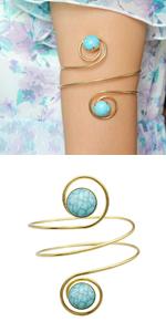 Blue Stone Armlet Bangle