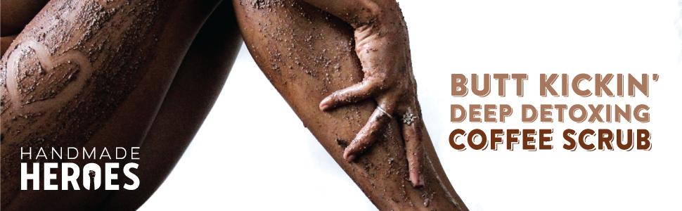 Coffee Scrub natural vegan cellulite removal stretch marks detoxifying majestic lush frank exfoliate