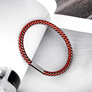 red stainless bracelet