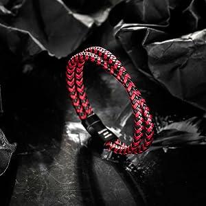 Black-Red Bracelet