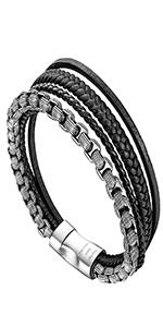 Bracelet Leather Steel