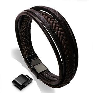 brown Leather bracelet for Men