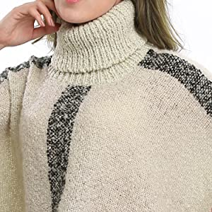 High Collar of the Women's Ponchos