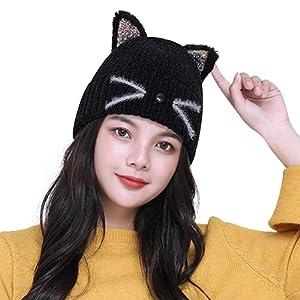 Cute Shining Cat Ear Beanie Material