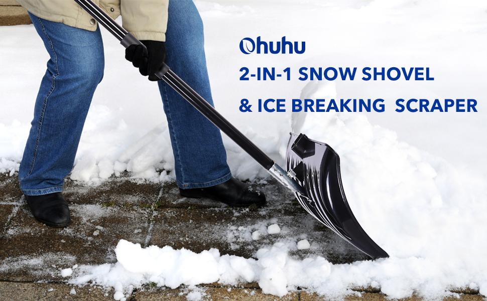 ohuhu ice scraper snow shovel