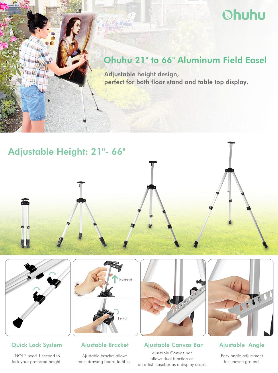 Amazon Com Artist Easel Ohuhu 2 Pack Aluminum Field