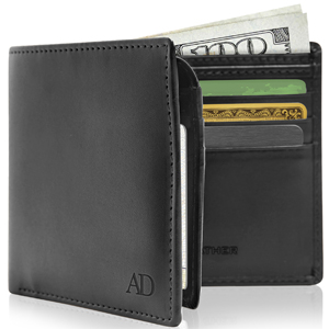 Vegan Faux Leather Bifold Wallets For Men Cruelty Free RFID Blocking Gifts For Him