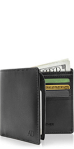 Slim Vegan Faux Leather Wallets For Men Non Leather Mens Wallet RFID Blocking Gifts For Him