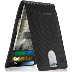 Slim Bifold Wallets For Men Money Clip Wallet RFID Leather Thin Minimalist Mens Wallet Card Holder