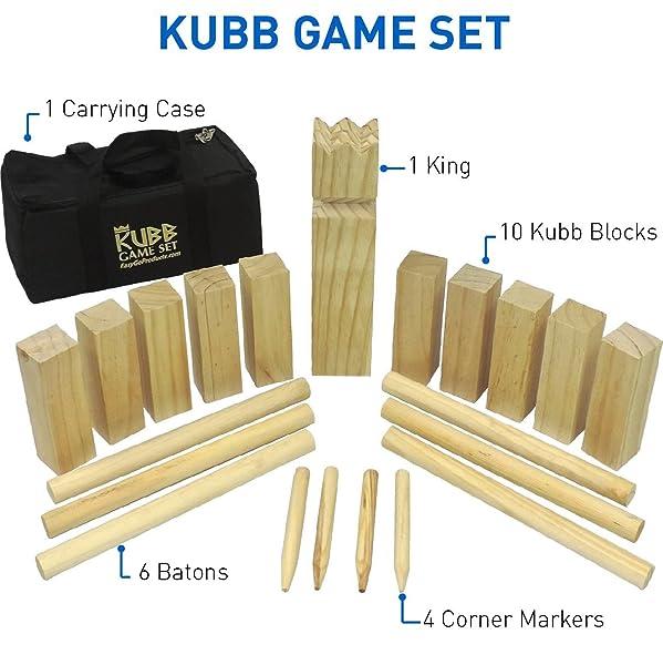 Kubb deLuxe-vikings game-Master Gold
