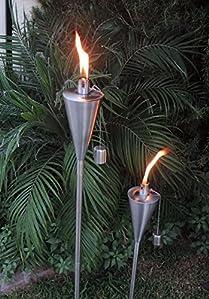 Amazon Com Patio Torch 2 Pack Tiki Outdoor Garden Oil Lamp Lanterns With Decorative