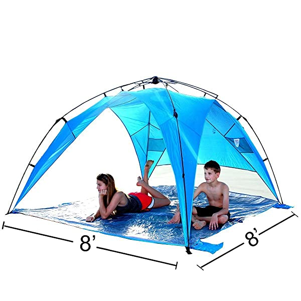 easygo shelter xl instant beach umbrella tent pop up easy up canopy sun sport shelter with pvc floor