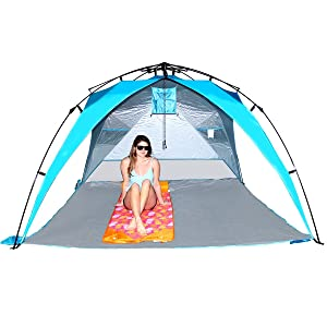 Instant set-up u2013 beach umbrella tent. No loose parts! Just pull the string and this pop up beach tent sun shelter opens quickly. Easy up canopy beach sun ...  sc 1 st  Amazon.com : pull up canopy - memphite.com