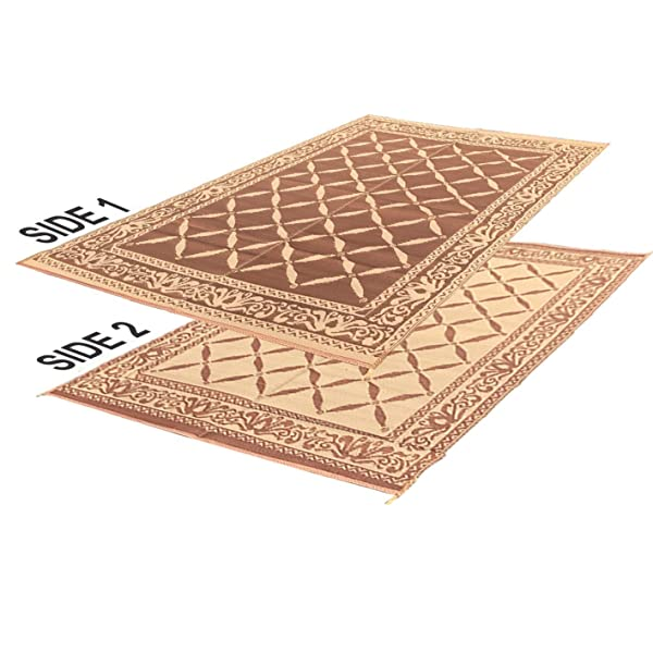 RV Camping Mats   9u0027x 12u0027 Outdoor Patio Mat   Reversible RV Mat   Carrying  Strap