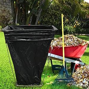 Captivating EasyGo Trash Bag Holder U2013 Leaf Bag Stand U2013 Multi Use Garbage Bag Holder  Frame