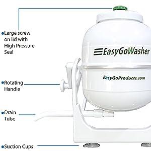 Amazon.com: easyGO Lavadora – Manual ropa Lavadora – Móvil ...