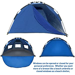 ... like a beach umbrella or closed windows as a beach shelter the EasyGo Shelter is Easy to take with you and Easy to set-up. Handy storage bag included.  sc 1 st  Amazon.com & Amazon.com: Best Selling EasyGo Shelter - Instant Beach Umbrella ...