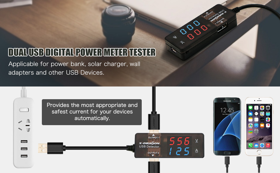 Wall PC USB Charging Power Current and Voltage Tester up to 3A for CellPhone MID