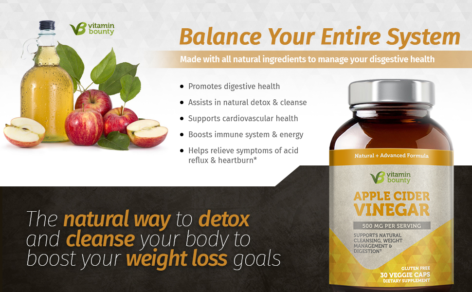 Vitamin Bounty Apple Cider Vinegar: Balance Your Entire System