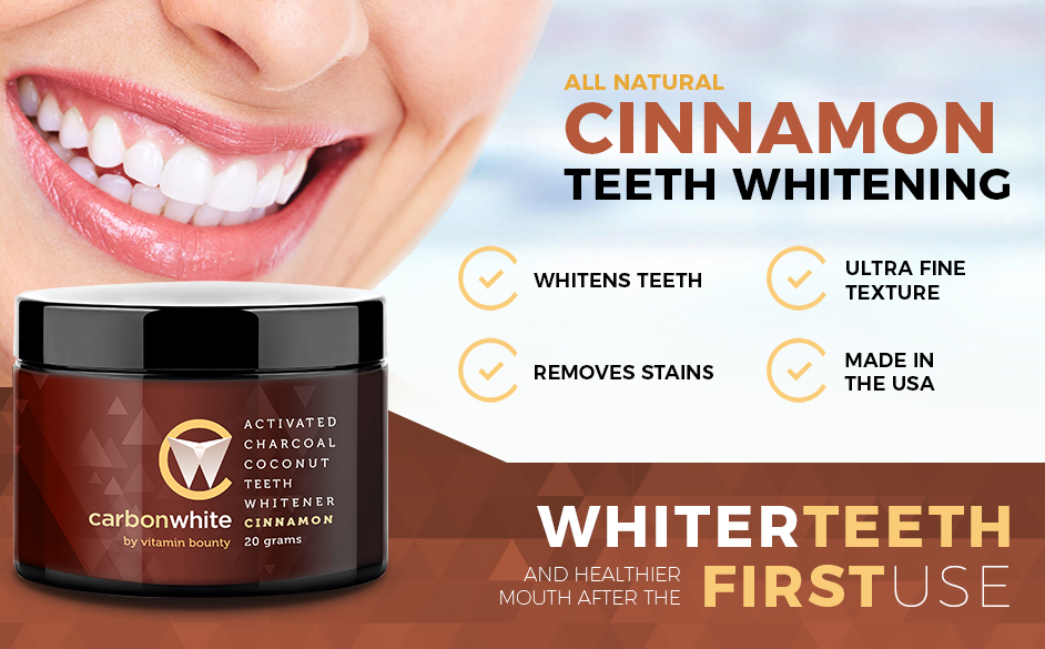 carbonwhite activated charcoal teeth whitening cinnamon beauty. Black Bedroom Furniture Sets. Home Design Ideas