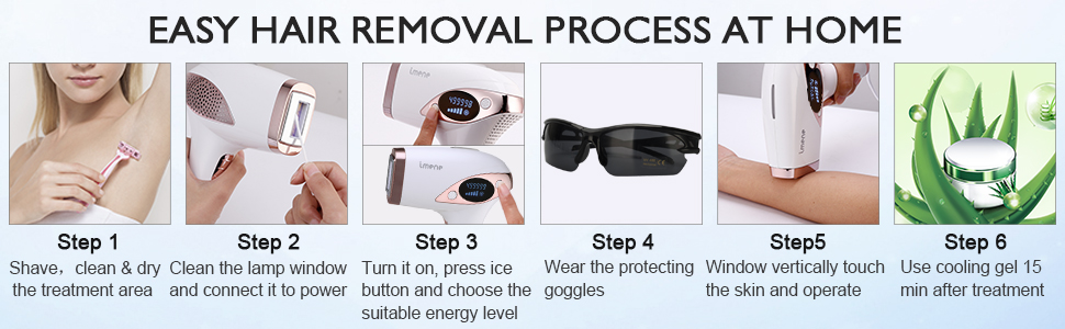 how to use laser hair removal?